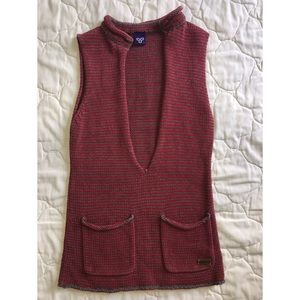 TNA knitted Aztec vest with front pockets